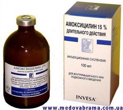 амоксициллин 15 100 мл биовета